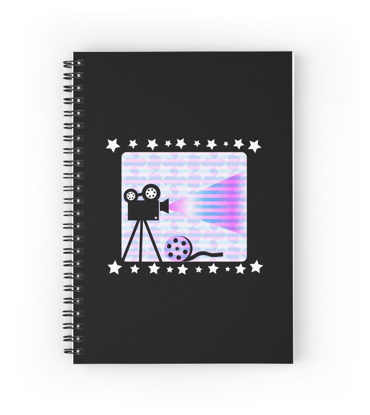 Old movies nostalgia by cocodes #notebook #stationery @redbubble