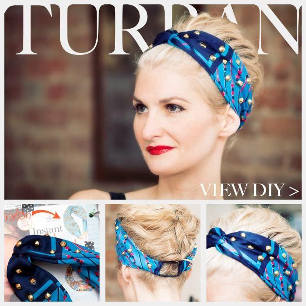 DIY Tutorial: Hair Accessories / DIY Studded Turban - Bead&Cord