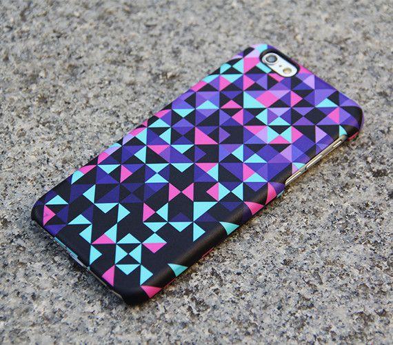 Geometric iPhone 6 s Case Triangle iPhone 6 Plus Case Violet iPhone 5S iPhone 5C iPhone 4S 4 Case Samsung Galxy S5 S4 Optical Illusion 04