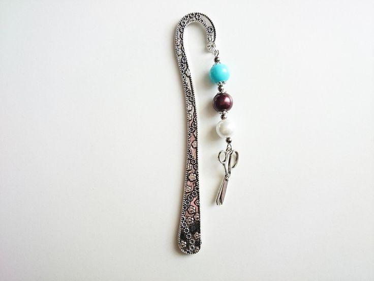 Geschenke für Frauen - Lesezeichen, Schere 12 cm - ein Designerstück von atelier-house-decor bei DaWanda