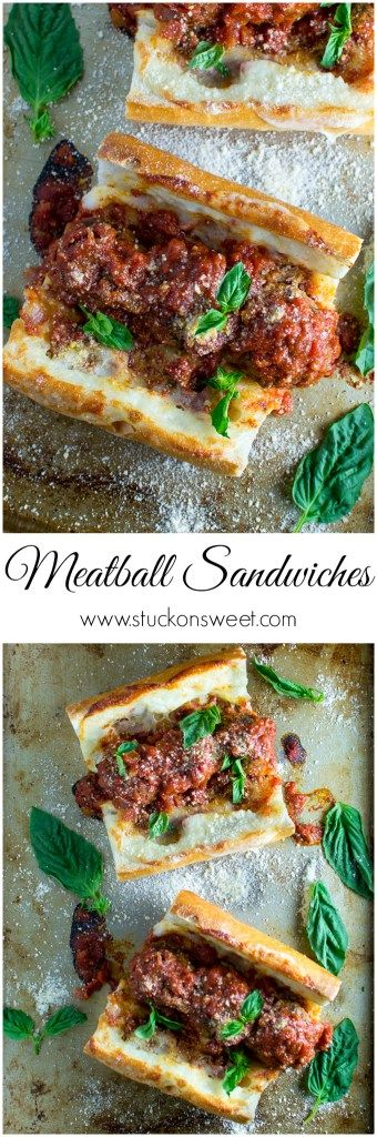 Meatball Sandwiches - these are so good! I make them all the time for dinner and special occasions! | www.stuckonsweet.com