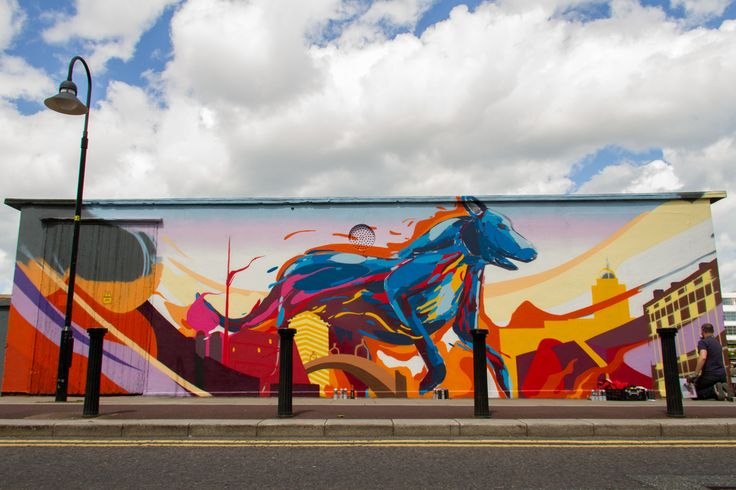 Renowned street artist James Earley has created an epic, large-scale and visually stunning mural for Visit Dublin on City Quay.    Find out more with our article James Earley: Painting Dublin here. http://goo.gl/W4dVyz