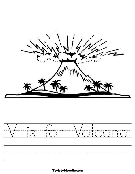 V is for Volcano Worksheet