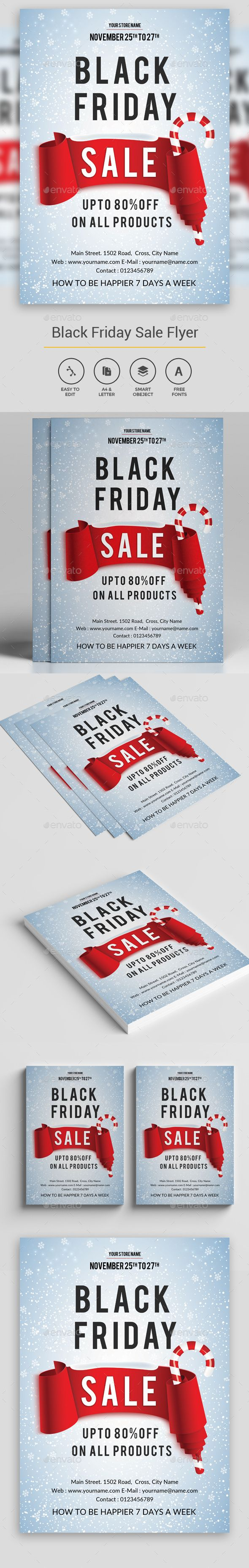 Black Friday Flyer Template PSD #design Download: http://graphicriver.net/item/black-friday-flyer/13617409?ref=ksioks
