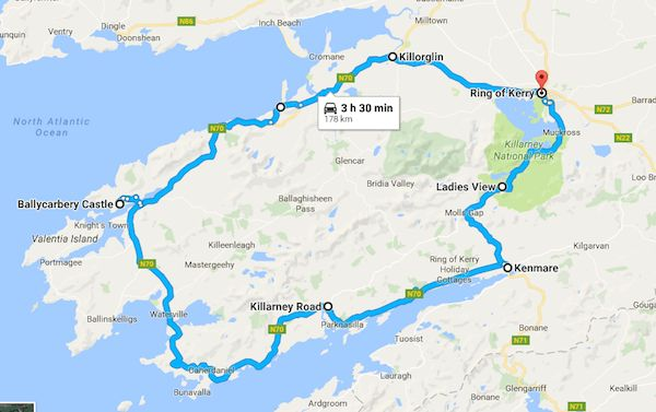 All the stops around the Ring of Kerry