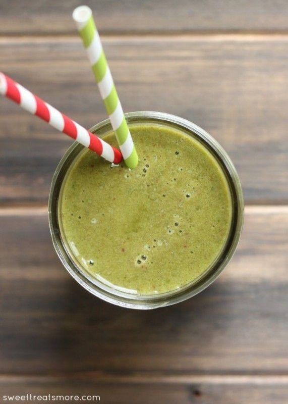 Erdbeer-Bananen-Grün-Sonnenaufgang-Smoothie sweettreatsmore.com – Bloggers 'Best H …   – Make Good Things