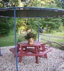 Trampoline parasol 1