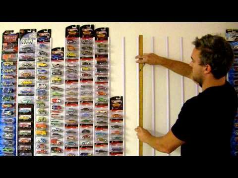 How to display Hot Wheels and diecast. This isn't me or my collection, but this is how I learnt to display my packaged HW's in a super cool way.