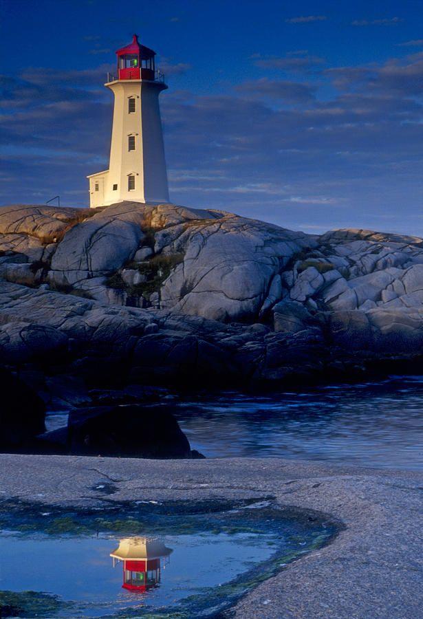 ✯ Peggys Cove Lighthouse Reflection - Nova Scotia.