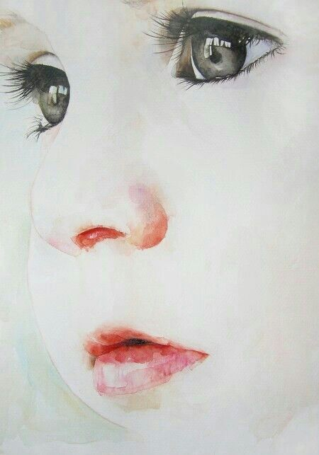 Watercolor portraits.