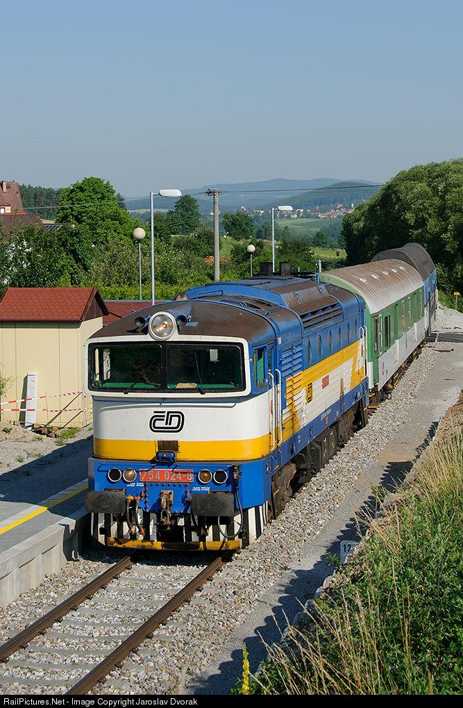 RailPictures.Net Photo: 754 024 8 Ceske Drahy CD 754 at Trisov, Czech Republic by Jaroslav Dvorak
