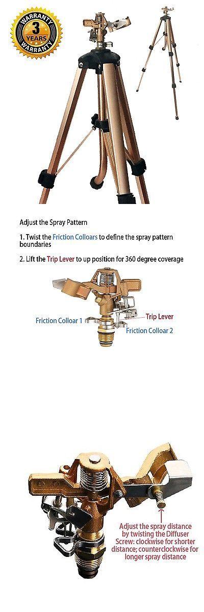 Lawn Sprinklers 20542: Brass Impact Tripod Sprinkler With Heavy Duty Brass Impact Sprinkler (25-48 ... -> BUY IT NOW ONLY: $38.65 on eBay!