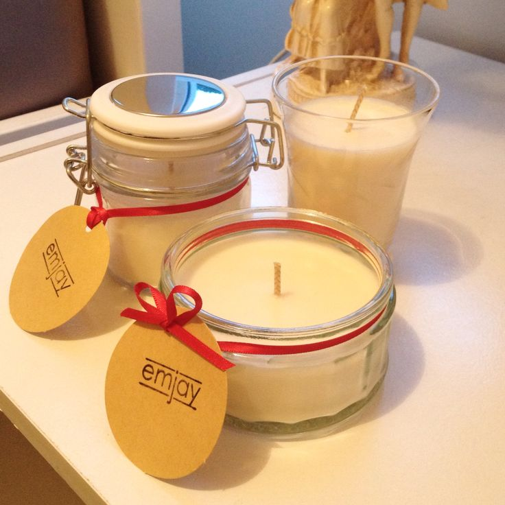 Mini scented jar candles for Christmas gifts