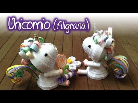 Unicornio de Filigrana, Quilling Unicorn - YouTube