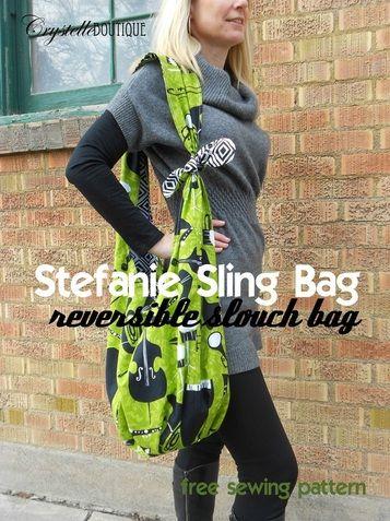 CrystelleBoutique - libre patron de couture - Stefanie Sling Bag