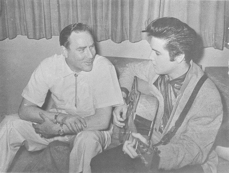 : April 15, 1957 - Elvis and Dewey Phillips at Charles Underwood's home