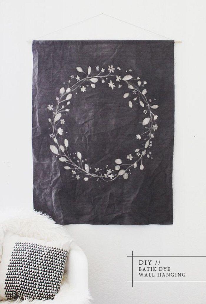 DIY: batik wall hanging