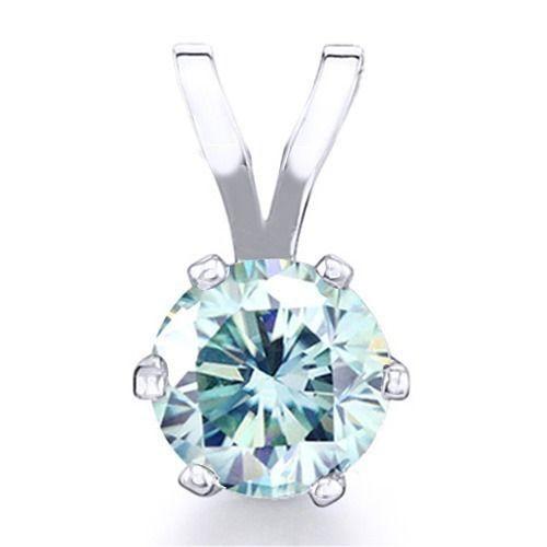 7/8 Ct Diamond Solitaire Pendant 14K Gold Over $999 #AffinityFashionJewelry #Solitaire #EngagementWeddingAnniversaryValentines