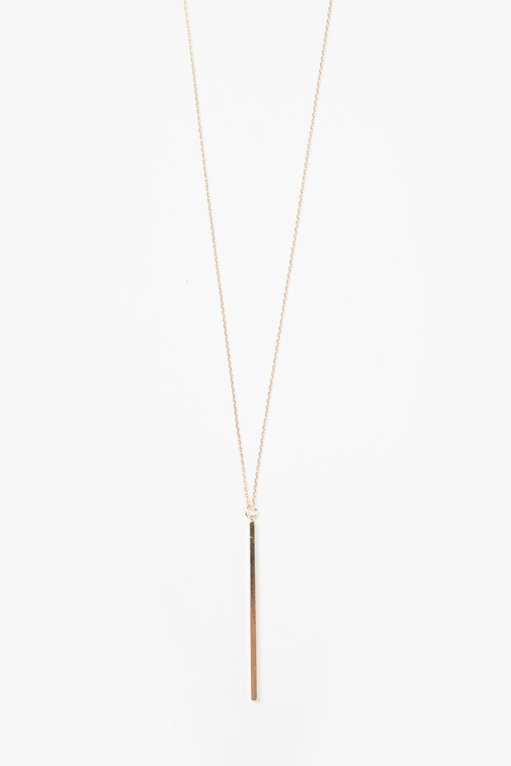 Sadie Long Gold Bar Necklace