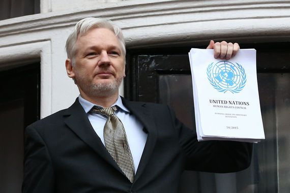Julian Assange moves speech to Berlin due to 'specific information'     - CNET  Wikileaks founder Julian Assange speaks from the balcony of the Ecuadorian embassy in February.                                              Carl Court Getty Images                                          WikiLeaks founder Julian Assange has moved a much-anticipated press conference on Tuesday from London to Berlin citing unspecified specific information.  Assange who has been living in asylum in Ecuadors…