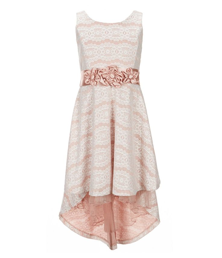 Bonnie Jean Big Girls 716 BondedLace HighLow Dress #Dillards