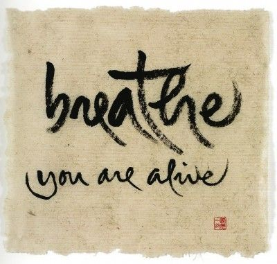 """Breathe - You are Alive """"The Mindful Art of Zen Master Thich Nhat Hanh"""""""