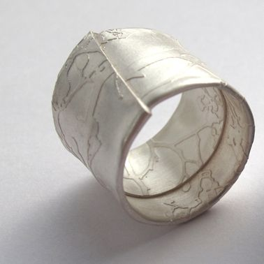 Silver wrapped blossom ring | Contemporary Rings by contemporary jewellery designer Sally Grant