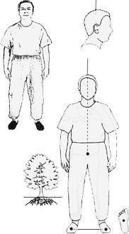 Mi Zong Qi Gong standing meditation postures: picture and description for each position