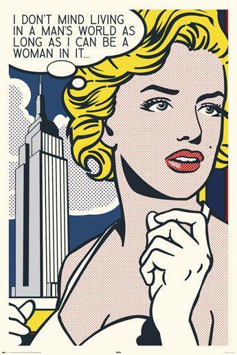 Marilyn Monroe Pop Art, Lichtenstien Style Pop Art.