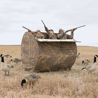 Awesome hay bale blind for hunting. Perfect for Dove hunting. Camouflage. Beavertail Pro Series 3-Man HayBale Blind