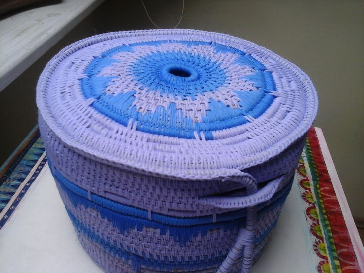 Koszyk ze sznurka, etno ba-ba