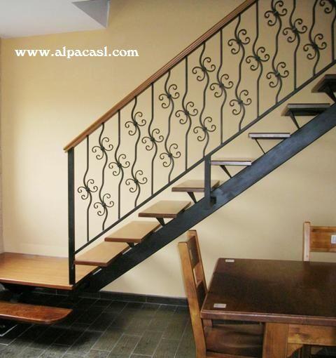 20 best images about barandillas de escalera on pinterest - Pasamanos de escalera ...