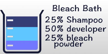 A bleach bath is a gentler way to bleach your hair lightly. It is simple enough that you can fix your own hair at home, get rid of unwanted colors.