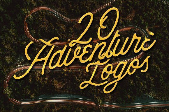 20 Adventure Logos Set by Roman Paslavskiy on @creativemarket