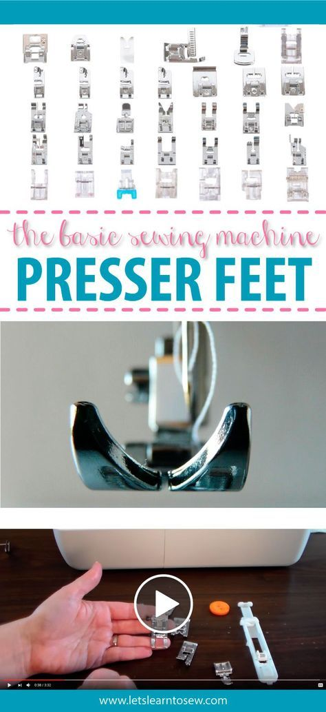 The essential sewing machine feet. What they do and how to use them