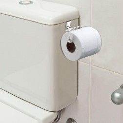 Suporte de Papel Higienico para Caixa de Bacia Simples em Aço Cromado - 5 Anos de Garantia