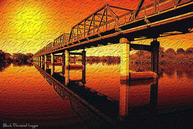 Martin Bridge, Taree, NSW - Sunset or Sunrise???    © All Rights Reserved - Black Diamond Images
