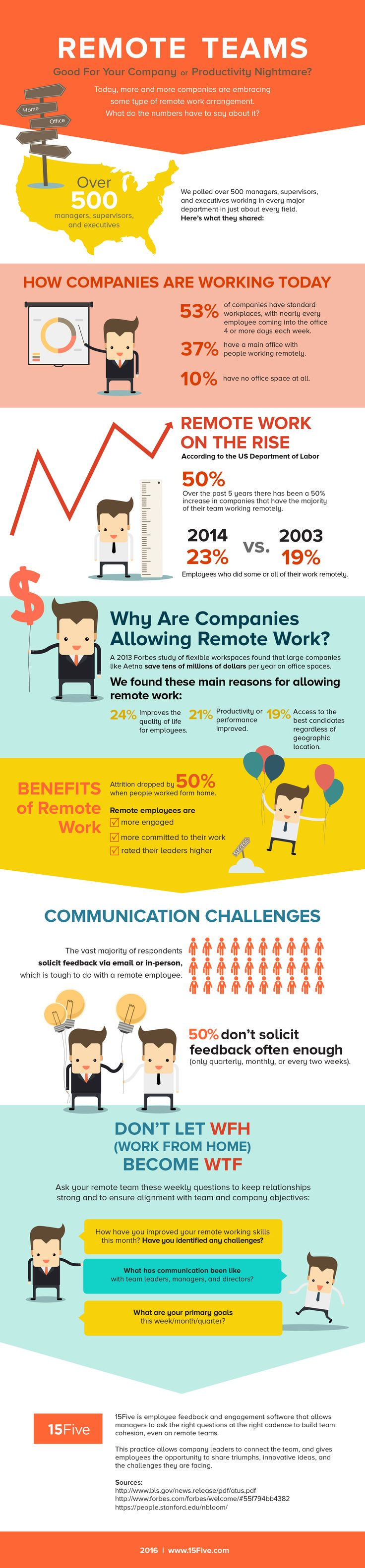 Perfect Infographic: Should You Allow Remote Work At Your Company?