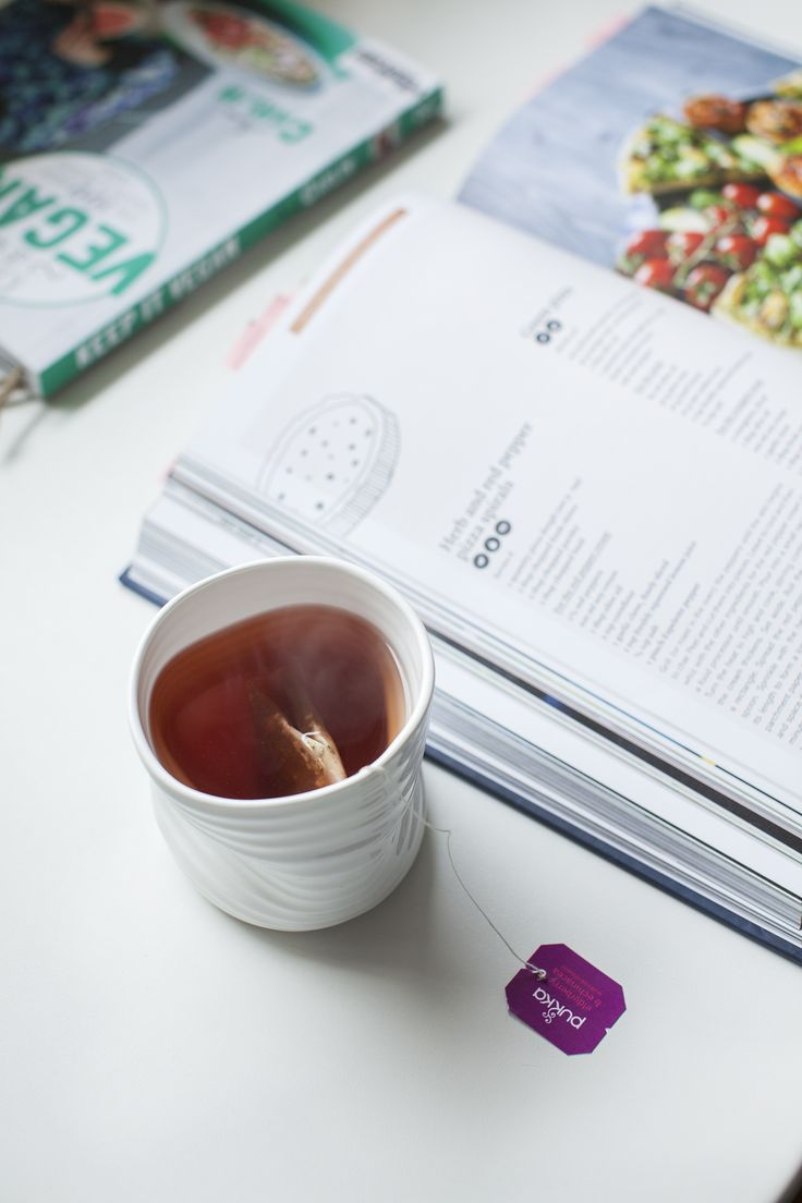 Sunday reading & pukka tea; recipe inspiration from the Vegan Bible by Marie Laforêt.  See recipes and inspiration on http://honestmunchies.com