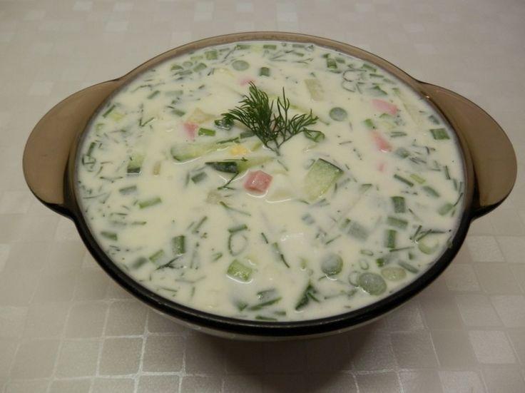 Сегодня рецепт Окрошки на кефире и минеральной воде. Это самый вкусный, быстрый...