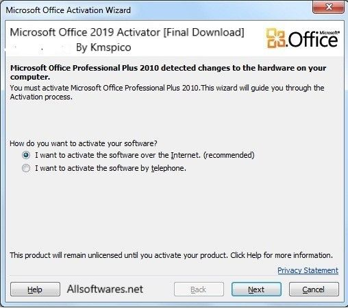 activate ms office 2016 kmspico