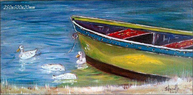Bokkomlaan  Velddrif Bergrivier Fishing Ducklings Oil Painting  Stretched Canvas 250x500x20mm (johanettevandeventer@gmail.com) (MY page where you can see all my paintings for sale:https://www.facebook.com/pages/Art-of-being-feminine/216215068495275?ref=hl https://www.facebook.com/media/set/?set=a.462889420494504.1073741855.216215068495275&type=3