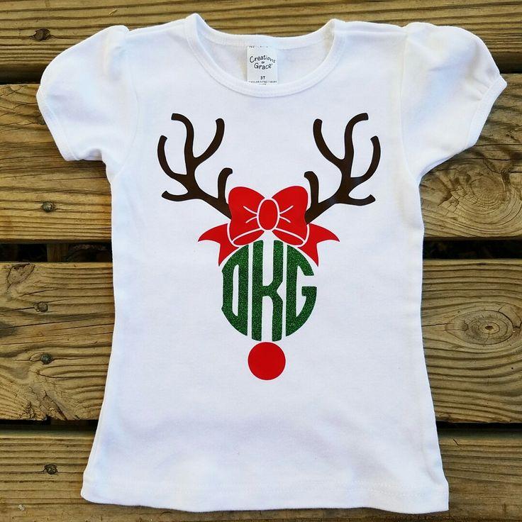 Rudolph the Red Nose Reindeer Monogrammed Design Toddler Shirt