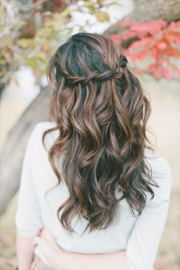 Легкая прическа водопад ::: onelady.ru ::: #hair #hairs #hairstyle #hairstyles