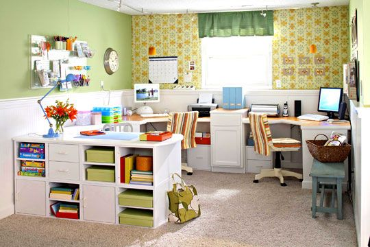 more craft room ideas: Sewing Room, Room Ideas, Scrapbook Rooms, Home Offices, Craft Rooms