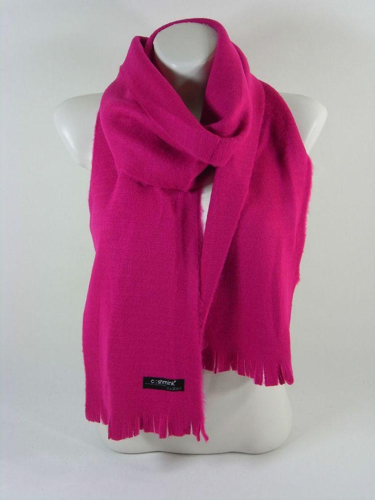 Damenschal pink warm Cashmink Accessoires Herbst Winter Geschenk Schal Scarf