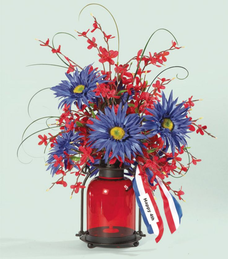 4th Of July Centerpiece July Flowers July Crafts 4th