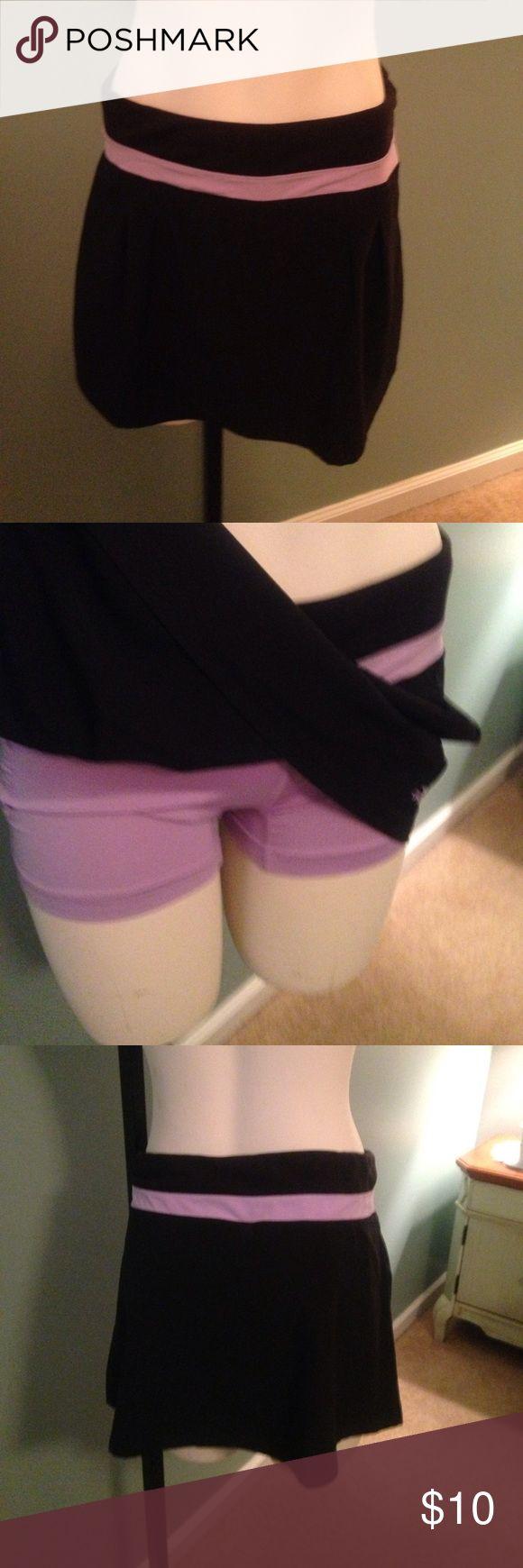 Small Adidas tennis shorts Like new condition Adidas Clima-lite black with lavender tennis shorts. adidas Shorts