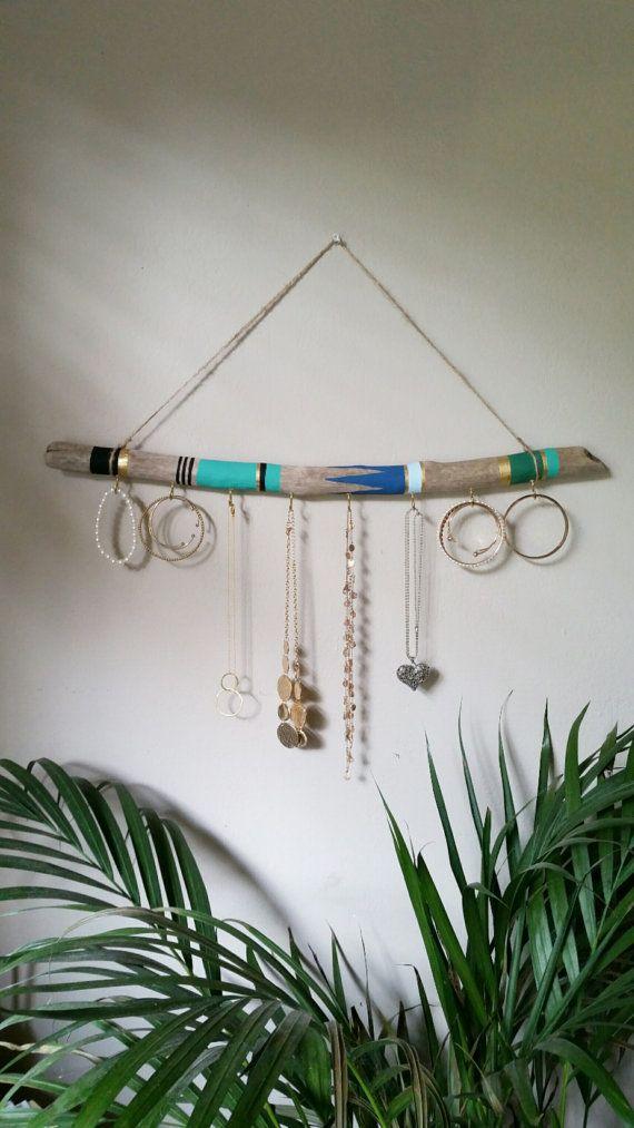 Driftwood Jewelry Organizer This art piece will ad…