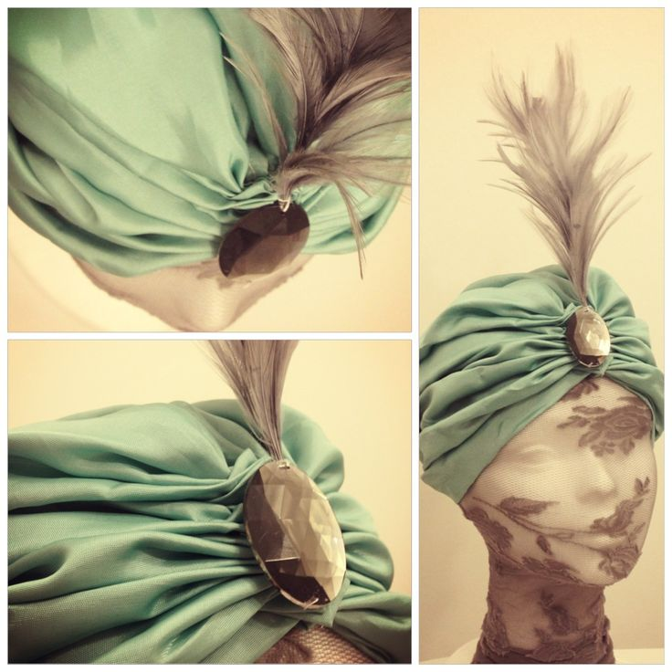 Turbante raso turquesa #turbante #conbmsyuscula #wedding #boda